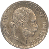 オーストリア 1フローリン銀貨  フランツ・ヨーゼフ1世[Tone UNC]