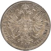 オーストリア 1フローリン銀貨  フランツ・ヨーゼフ1世[Tone UNC]【裏面】