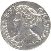 イギリス アン  シリング銀貨[F+]