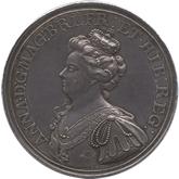 イギリス アン  マルプラケの戦い戦勝記念銀メダル[Toned EF+]