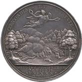 イギリス アン  マルプラケの戦い戦勝記念銀メダル[Toned EF+]【裏面】