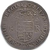 イギリス エリザベス1世  4テストン銀貨[Tone VF]