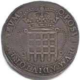 イギリス エリザベス1世  4テストン銀貨[Tone VF]【裏面】