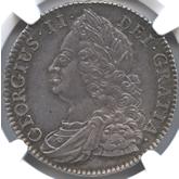 イギリス ジョージ2世  1/2クラウン銀貨