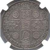 イギリス ジョージ2世  1/2クラウン銀貨【裏面】