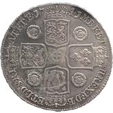イギリス ジョージ2世  クラウン銀貨 ヤングヘッド[VF]【裏面】