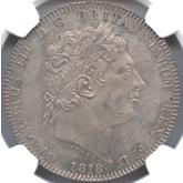 イギリス ジョージ3世  クラウン銀貨  東京コレクション[AU/UNC]