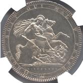 イギリス ジョージ3世  クラウン銀貨  東京コレクション[AU/UNC]【裏面】
