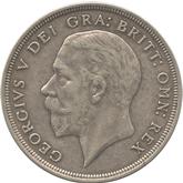 イギリス ジョージ5世 クラウン銀貨[VF]