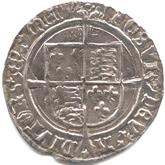 イギリス ヘンリー8世 グロート銀貨[VF]【裏面】