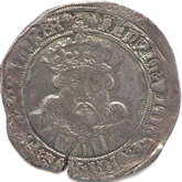 イギリス ヘンリー8世 テストン銀貨[VF]