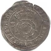 イギリス ヘンリー8世 テストン銀貨[VF]【裏面】