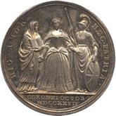 イギリス キャロライン王妃記念銀メダル[Tone EF]【裏面】