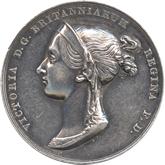 イギリス ヴィクトリア女王 公式戴冠記念銀メダル[VF+/EF]