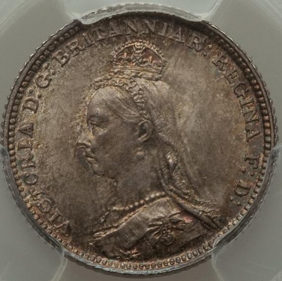 イギリス ヴィクトリア女王 4ペンス~ペニー銀貨【表】