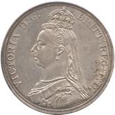 イギリス ヴィクトリア女王  クラウン銀貨 ジュビリー[-EF]