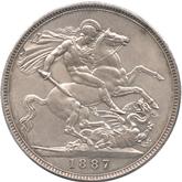 イギリス ヴィクトリア女王  クラウン銀貨 ジュビリー[-EF]【裏面】