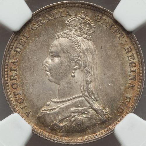 イギリス ヴィクトリア女王 シリング銀貨【表】