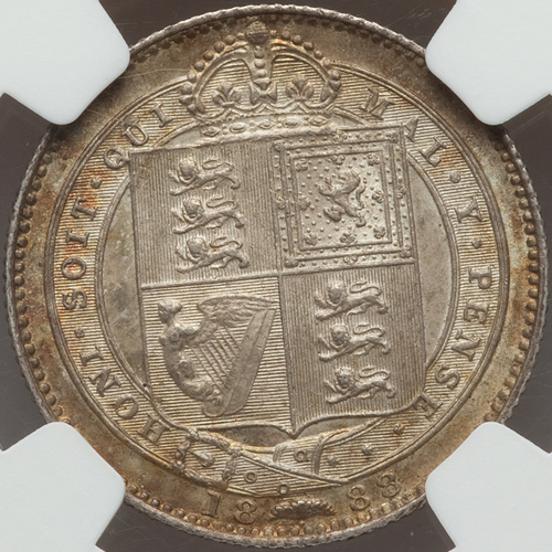 イギリス ヴィクトリア女王 シリング銀貨【裏】