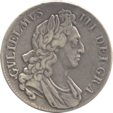 イギリス ウィリアム3世 クラウン銀貨[F]