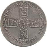イギリス ウィリアム3世 クラウン銀貨[F]【裏面】