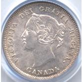 カナダ ヴィクトリア 5セント銀貨[UNC]