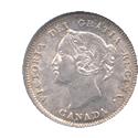 カナダ ヴィクトリア 5セント銀貨
