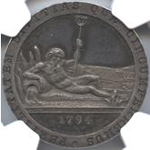 カナダ アッパー・カナダ ハーフペニー銀貨[PF FDC]