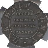 カナダ アッパー・カナダ ハーフペニー銀貨[PF FDC]【裏面】