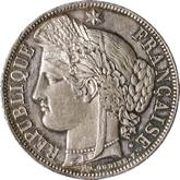 フランス 第三共和政 セレス 5フラン銀貨[EF+]