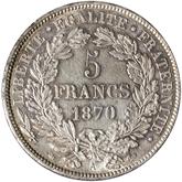フランス 第三共和政 セレス 5フラン銀貨[EF+]【裏面】
