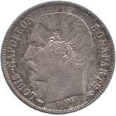 フランス ルイ・ナポレオン 50サンチーム銀貨[AU/UNC]