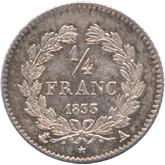 フランス ルイ・フィリップ1世 1/4フラン銀貨[PL UNC]【裏面】