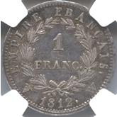 フランス ナポレオン1世 1フラン銀貨[EF]【裏面】