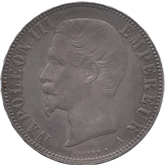 フランス ナポレオン3世 5フラン銀貨[Tone EF+]