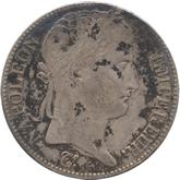 フランス ナポレオン1世 5フラン銀貨 百日天下[F+]