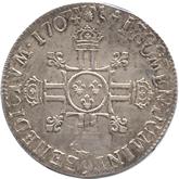 フランス ルイ14世 エキュー銀貨[EF]【裏面】