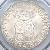 フランス ルイ15世 エキュー銀貨[UNC]【裏面】