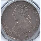 フランス ルイ16世 エキュー銀貨[-EF]