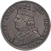 フランス ルイ18世 5フラン銀貨[EF+/AU]