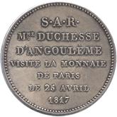 フランス ルイ18世 5フラン銀貨[EF+/AU]【裏面】