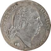 【影打ち】フランス ルイ18世 1フラン銀貨[F]【裏面】