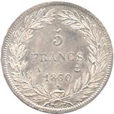 フランス ルイ・フィリップ1世 5フラン銀貨[UNC]【裏面】