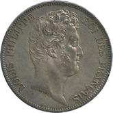 フランス ルイ・フィリップ1世 5フラン銀貨[EF+]