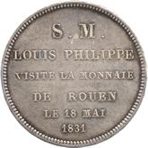 フランス ルーアン造幣局訪問記念5フラン銀貨[Tone UNC]【裏面】
