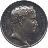 フランス アウステルリッツの会戦戦勝 記念銀メダル[Tone UNC]