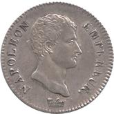 フランス ナポレオン第一帝政 2フラン銀貨[EF+/AU]