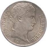 フランス ナポレオン1世 5フラン銀貨  トリノミント[EF+][EF]