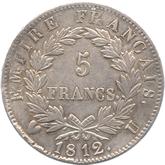 フランス ナポレオン1世 5フラン銀貨  トリノミント[EF+]【裏面】
