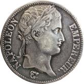 【影打ち】フランス ナポレオン1世 5フラン銀貨[-EF]